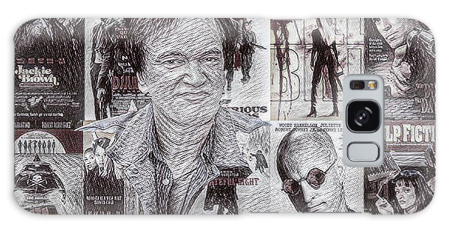 Quentin Tarantino Poster Drawing Galaxy S8 Case featuring the drawing Quentin Tarantino Poster Drawing by Pd