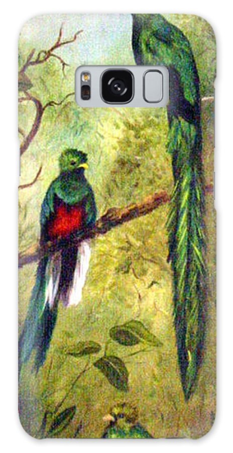 Landscape Galaxy S8 Case featuring the painting Quetzels by Anne Kushnick