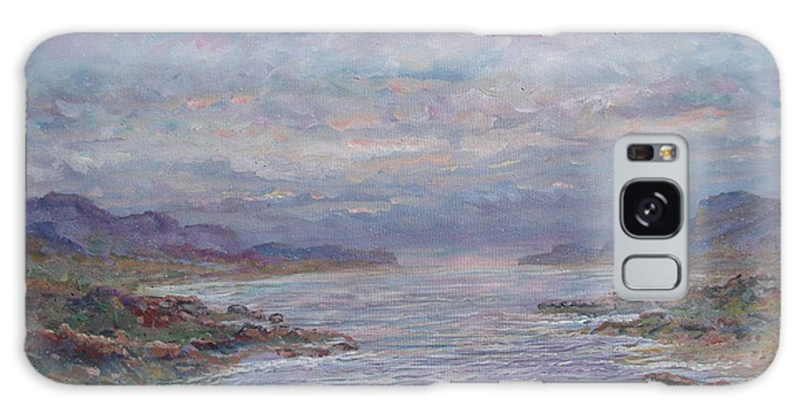 Painting Galaxy Case featuring the painting Quiet Bay. by Leonard Holland