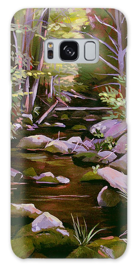 Peoples State Forest Galaxy Case featuring the painting Quiet Brook by Nancy Griswold