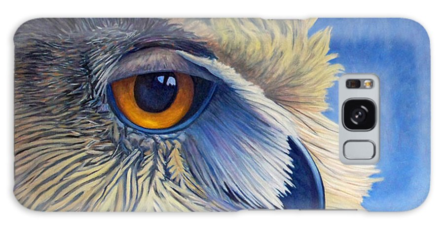 Owl Galaxy Case featuring the painting Quiet Joy by Brian Commerford
