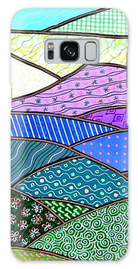 Mountain Galaxy S8 Case featuring the painting Quilted Mountain by Jim Harris