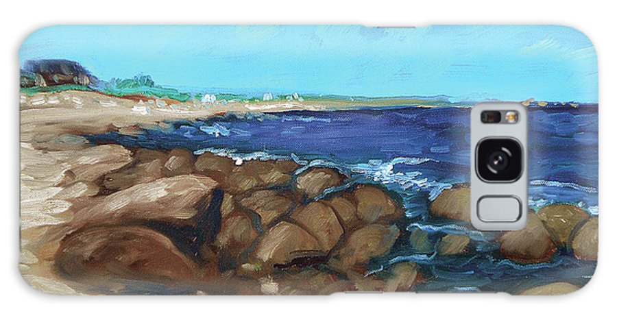 Quonocontaug Galaxy S8 Case featuring the painting Quonocontaug West Beach by Erik Schutzman