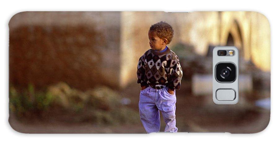 Rabat Kasbah Des Oudaias Little Boy Morocco Galaxy S8 Case featuring the photograph Rabat Kasbah Des Oudaias Little Boy Morocco by Antonio Martinho
