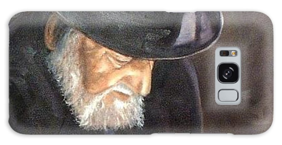 Portrait Galaxy S8 Case featuring the painting Rabbi by Toni Berry