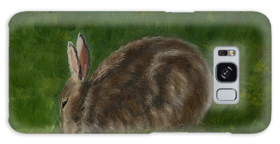 Wildlife Galaxy S8 Case featuring the painting Rabbit In Spring by Julie Kreutzer