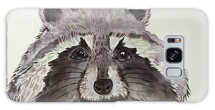 Raccoons Galaxy S8 Case featuring the painting Raccoon by Aysel Mekhtieva