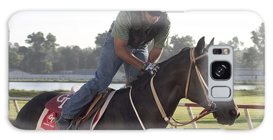 Jockey Galaxy S8 Case featuring the photograph Racehorse At Evangeline Downs by Carl Purcell