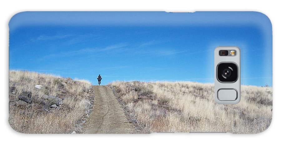 Racing Bike Galaxy S8 Case featuring the photograph Racing Over The Horizon by Heather Kirk