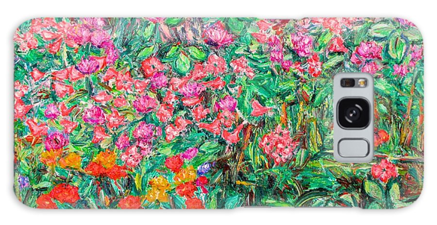 Kendall Kessler Galaxy S8 Case featuring the painting Radford Flower Garden by Kendall Kessler