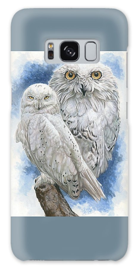 Snowy Owl Galaxy S8 Case featuring the mixed media Radiant by Barbara Keith
