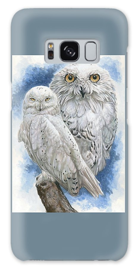 Snowy Owl Galaxy Case featuring the mixed media Radiant by Barbara Keith