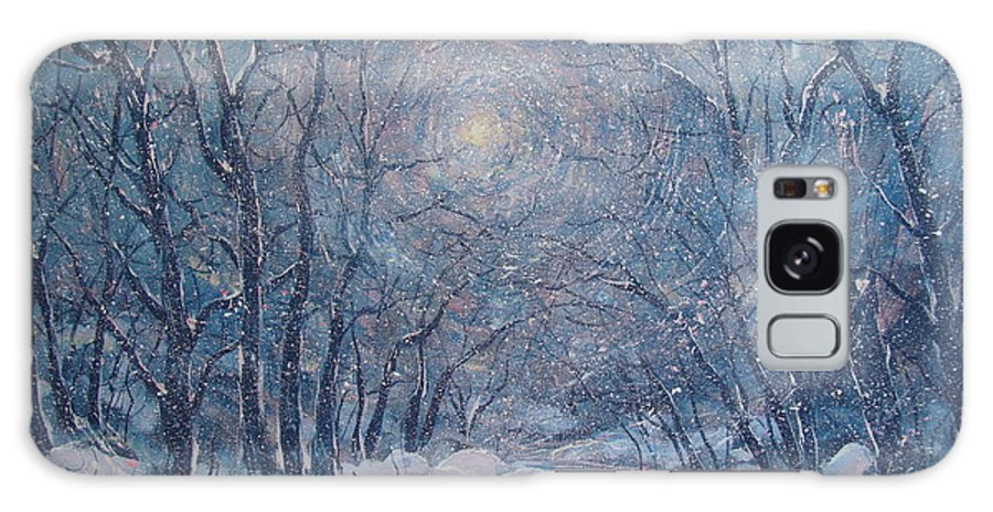 Snow Landscape Galaxy Case featuring the painting Radiant Snow Scene by Leonard Holland