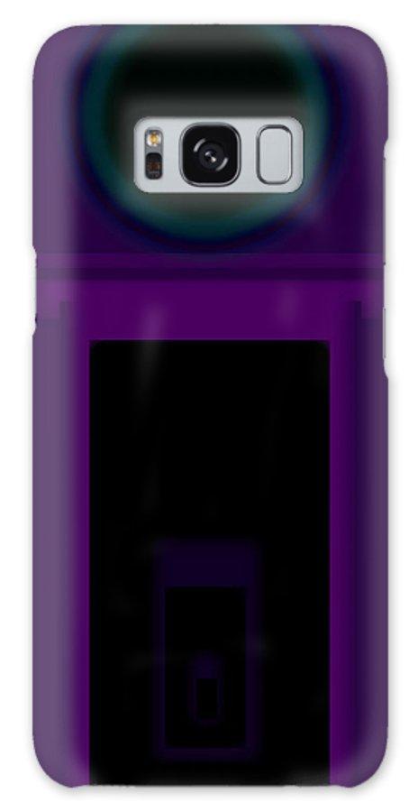 Palladian Galaxy S8 Case featuring the painting Radio Purple Palladio by Charles Stuart