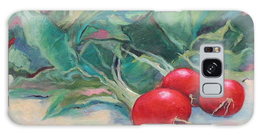 Radishes Galaxy S8 Case featuring the painting Radishes by Ginger Concepcion