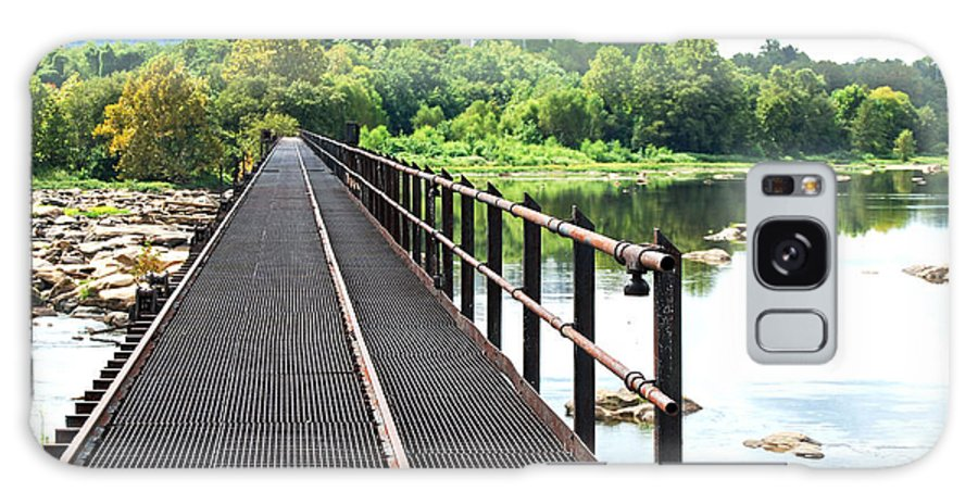 James River Galaxy S8 Case featuring the photograph Rail To Richmond by Patricia Motley
