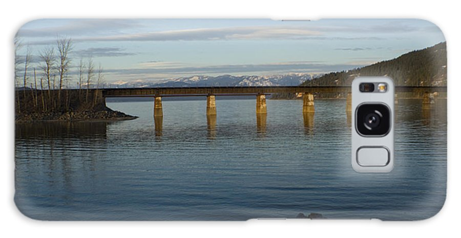 Bridge Galaxy S8 Case featuring the photograph Railroad Bridge Over The Pend Oreille by Idaho Scenic Images Linda Lantzy