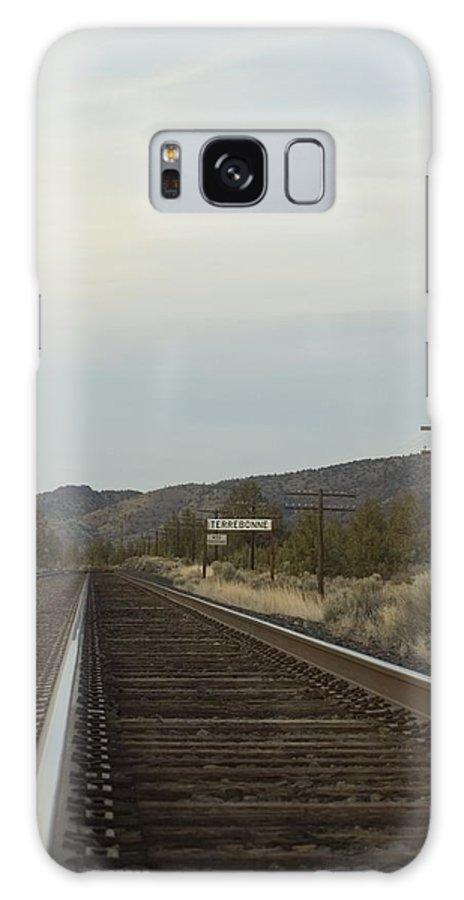 Railroad Galaxy S8 Case featuring the photograph Railroad Tracks by Sara Stevenson