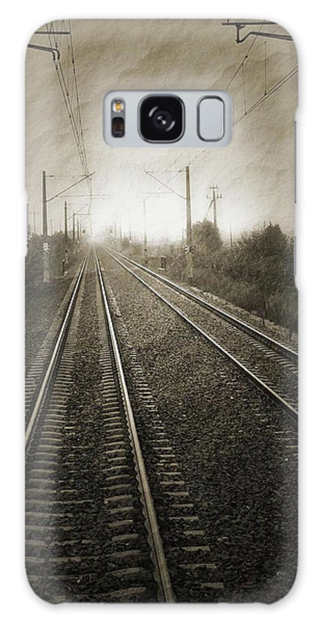 Train Galaxy S8 Case featuring the photograph Rails by Angela Wright