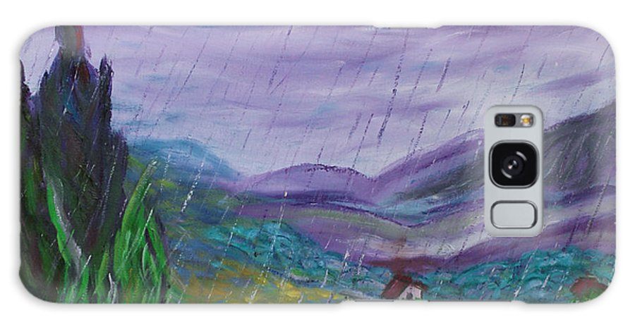 Rain Galaxy S8 Case featuring the painting Rain by David McGhee