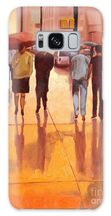 Manhattan Galaxy Case featuring the painting Rain In Manhattan Number Eighteen by Tate Hamilton
