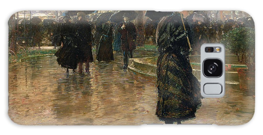 Rain Storm Galaxy S8 Case featuring the painting Rain Storm Union Square by Childe Hassam