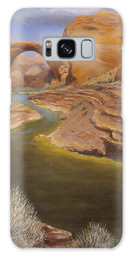 Rainbow Bridge Galaxy S8 Case featuring the painting Rainbow Bridge by Jerry McElroy