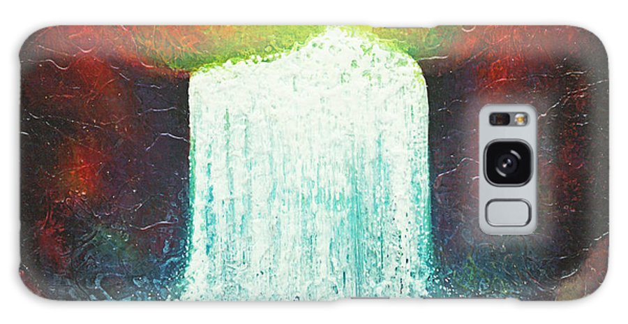Abstract Painting Galaxy S8 Case featuring the painting Rainbow Falls by Jaison Cianelli