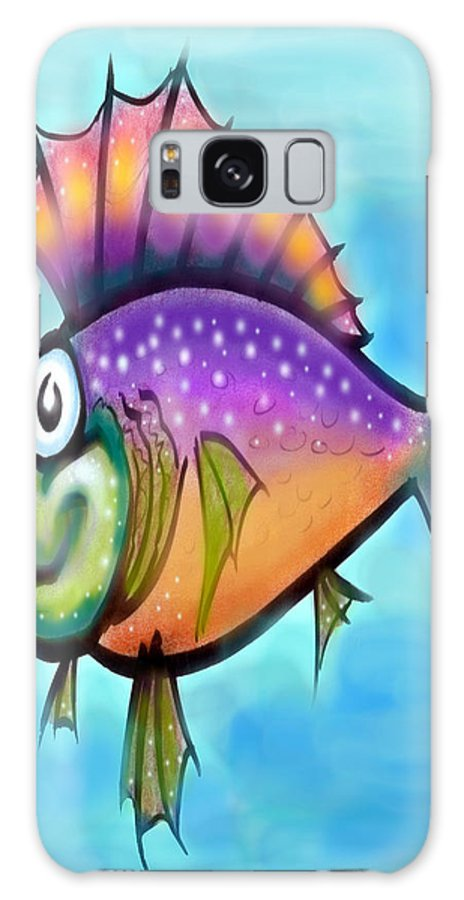 Fish Galaxy S8 Case featuring the greeting card Rainbow Fish by Kevin Middleton
