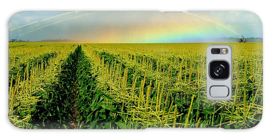 Rainbow Galaxy S8 Case featuring the photograph Rainbow Over The Cornfields by John Wall