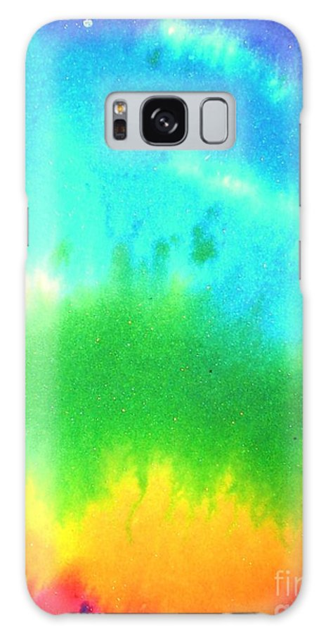 Rainbow's Galaxy S8 Case featuring the painting Rainbow Wash by Chandelle Hazen