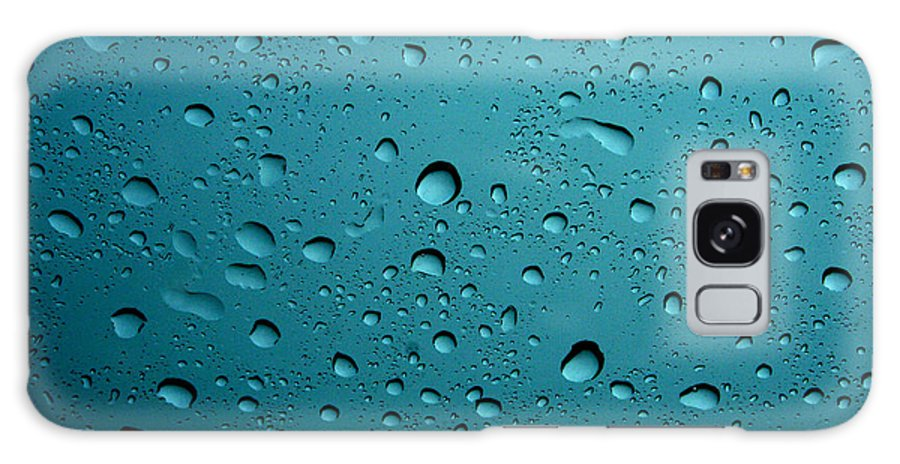 Abstract Galaxy S8 Case featuring the photograph Raindrops by Linda Sannuti