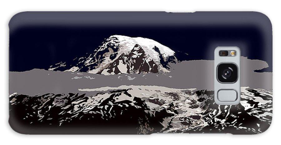 Mt Rainier Galaxy S8 Case featuring the painting Rainier by David Lee Thompson