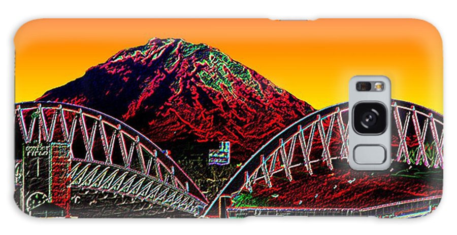 Mount Rainier Galaxy Case featuring the photograph Rainier Over Qwest Field by Tim Allen