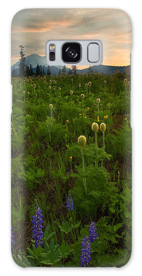 Meadow Galaxy S8 Case featuring the photograph Rainier Wildflower Light by Mike Dawson