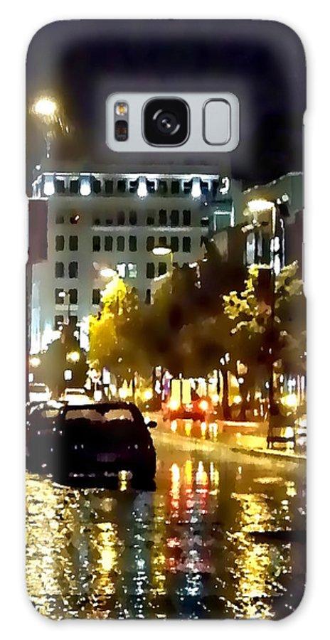 Lauren Radke Galaxy S8 Case featuring the photograph Rainy Night In Green Bay by Lauren Radke