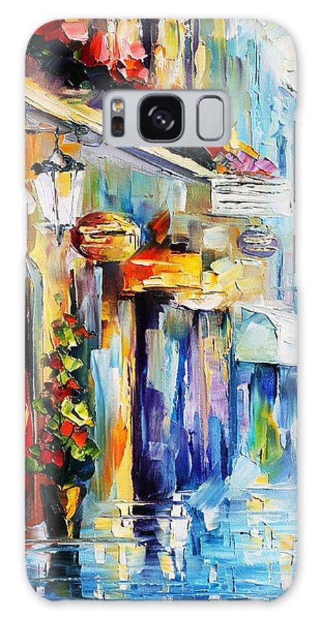 Afremov Galaxy S8 Case featuring the painting Rainy Stroll by Leonid Afremov