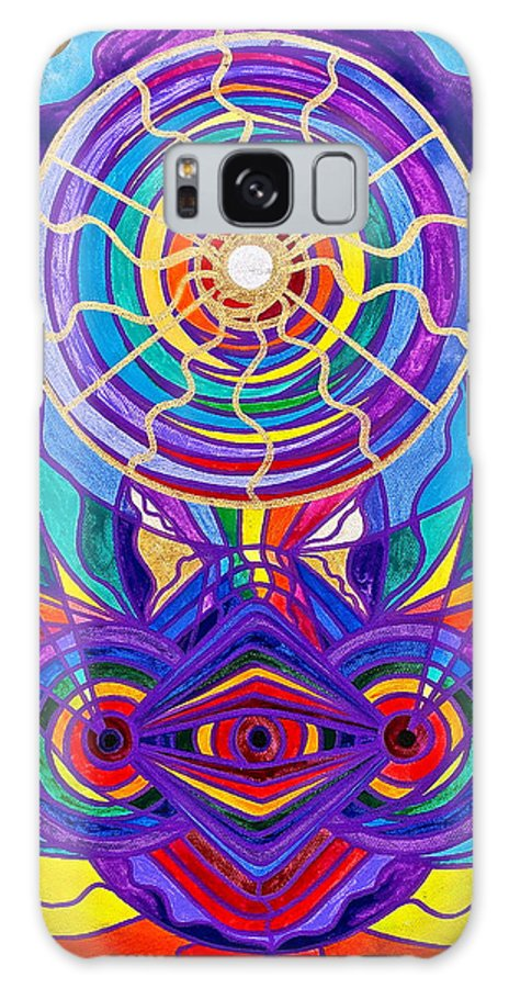 Vibration Galaxy S8 Case featuring the painting Raise Your Vibration by Teal Eye Print Store