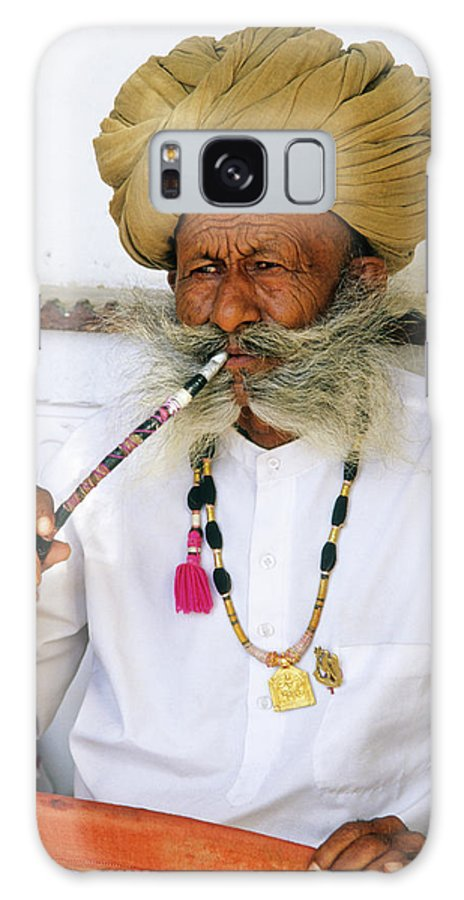 India Galaxy S8 Case featuring the photograph Rajasthani Elder by Michele Burgess
