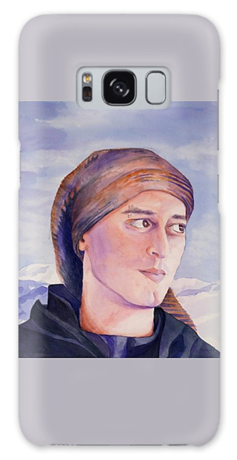 Man In Ski Cap Galaxy S8 Case featuring the painting Ram by Judy Swerlick