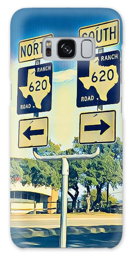 Lakeway Galaxy S8 Case featuring the digital art Ranch Road 620 by Wendy Biro-Pollard
