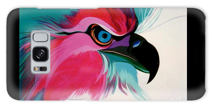 Birds Galaxy S8 Case featuring the painting Raptor Rapture by Marlene Burns