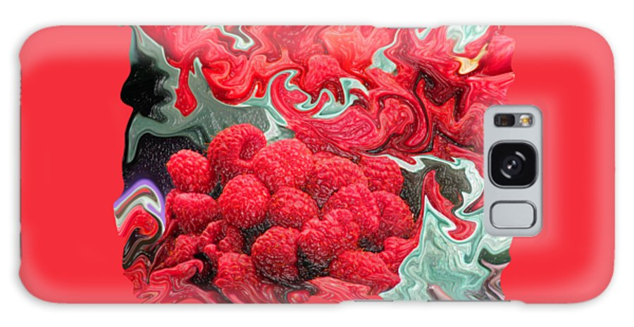 Art Photography Galaxy S8 Case featuring the photograph Raspberries by Kathy Moll