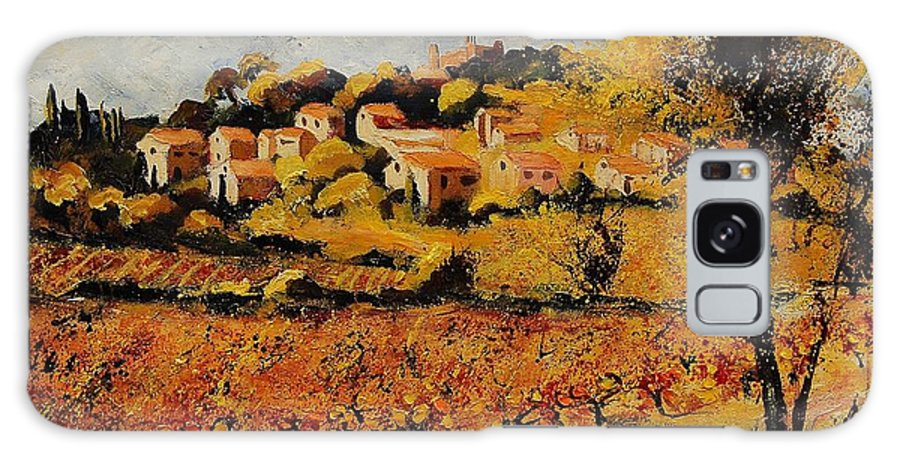 Provence Galaxy S8 Case featuring the painting Rasteau Vaucluse by Pol Ledent