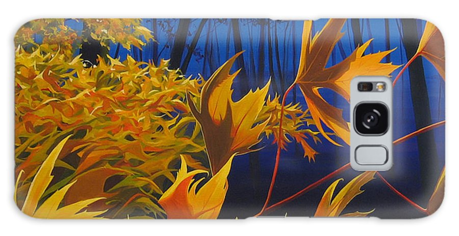Autumn Leaves Galaxy Case featuring the painting Raucous October by Hunter Jay