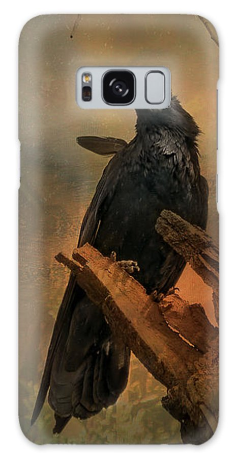 Corvid Galaxy S8 Case featuring the photograph Raven Lover by Vicki Stansbury