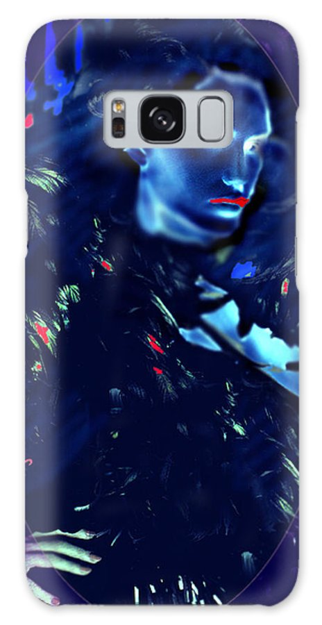 A Bizarre Evil Witch Flies With The Ravens Galaxy S8 Case featuring the digital art Raven Woman by Seth Weaver