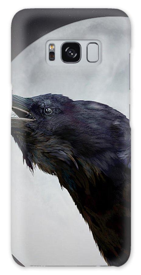 Animal Lover Galaxy S8 Case featuring the digital art Ravensong by Nigel Follett