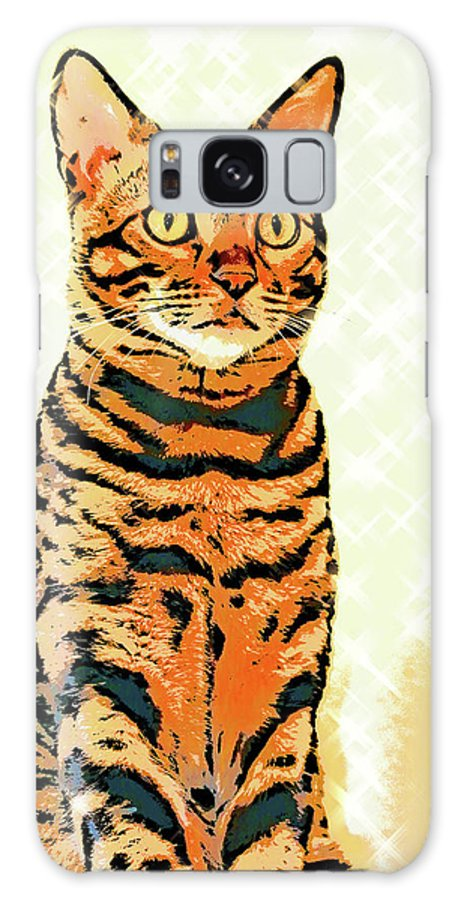 Cat Galaxy S8 Case featuring the photograph Ravi Series #8 by Vicki Podesta