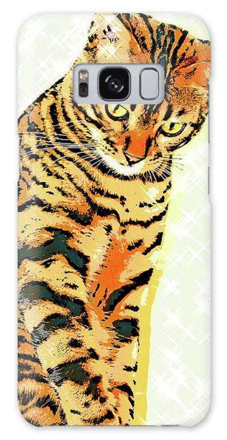 Cat Galaxy S8 Case featuring the photograph Ravi Series #3 by Vicki Podesta